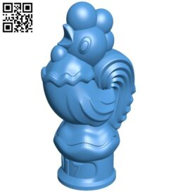The Chicken of 2017 B007858 file stl free download 3D Model for CNC and 3d printer
