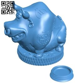The buffalo saves money – Kopilka 2021 B008031 file stl free download 3D Model for CNC and 3d printer