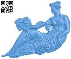 The girl sat drinking A005171 download free stl files 3d model for CNC wood carving