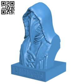 The person with the crow face B007602 file stl free download 3D Model for CNC and 3d printer
