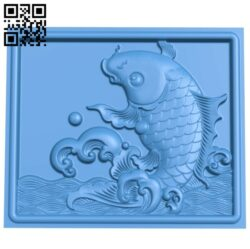 The picture of a carp A005028 download free stl files 3d model for CNC wood carving