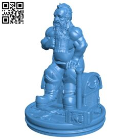 The viking warrior man B007651 file stl free download 3D Model for CNC and 3d printer