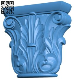 Top of the column A005078 download free stl files 3d model for CNC wood carving