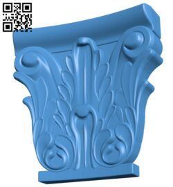 Top of the column A005080 download free stl files 3d model for CNC wood carving