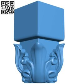 Top of the column A005125 download free stl files 3d model for CNC wood carving