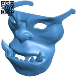 Tribal mask – orc B007957 file stl free download 3D Model for CNC and 3d printer