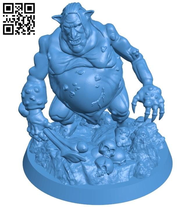 Venom Troll with bone B007959 file stl free download 3D Model for CNC and 3d printer