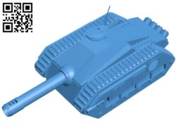 Viper King tank B007707 file stl free download 3D Model for CNC and 3d printer