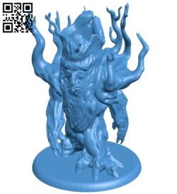 Winter Tree man B007946 file stl free download 3D Model for CNC and 3d printer