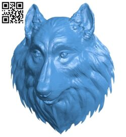 Wolf head A005102 download free stl files 3d model for CNC wood carving