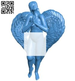 Women angel B007866 file stl free download 3D Model for CNC and 3d printer