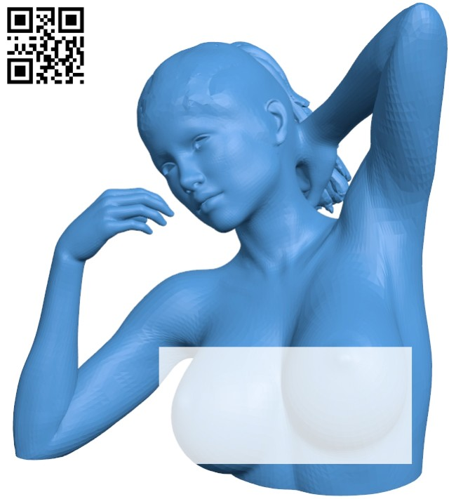Women bust B007881 file stl free download 3D Model for CNC and 3d printer