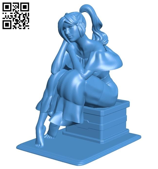 Women dreams B007877 file stl free download 3D Model for CNC and 3d printer