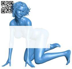 Women seductive pose B007938 file stl free download 3D Model for CNC and 3d printer