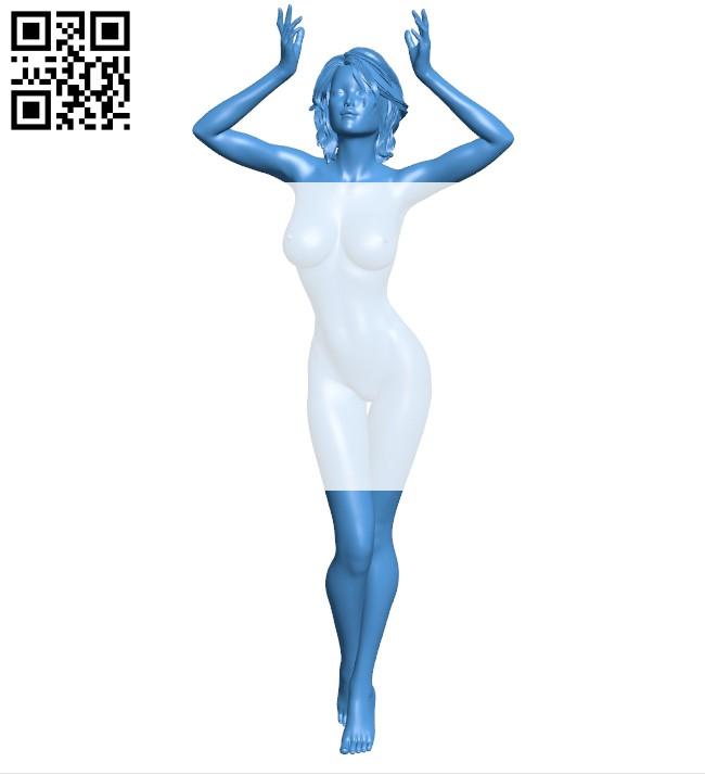 Women seductress B007940 file stl free download 3D Model for CNC and 3d printer