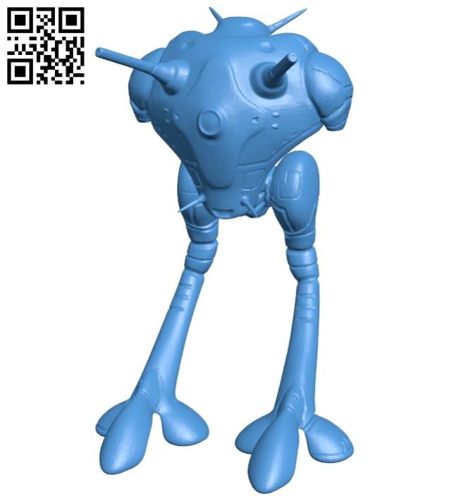 Zentraedi battle pod B007890 file stl free download 3D Model for CNC and 3d printer