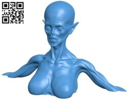 Zombie women queen bust B007885 file stl free download 3D Model for CNC and 3d printer