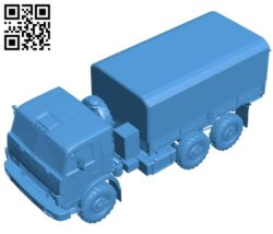 Kamaz army truck B007665 file stl free download 3D Model for CNC and 3d printer
