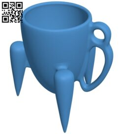 Three-legged cup B008008 file stl free download 3D Model for CNC and 3d printer