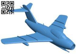 Aircraft Mig-19 B008133 file stl free download 3D Model for CNC and 3d printer