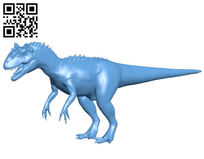 Allosaurus dinosaurs B008240 file stl free download 3D Model for CNC and 3d printer