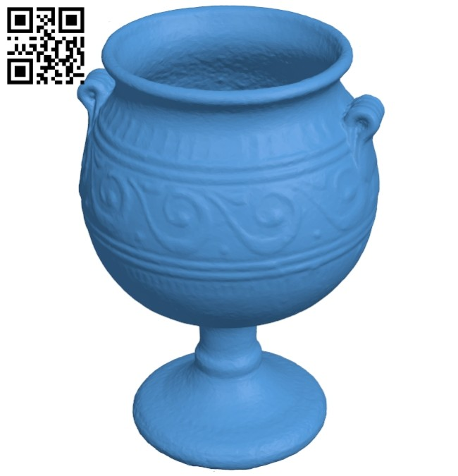Ancient cup B008076 file stl free download 3D Model for CNC and 3d printer