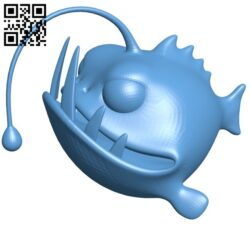 Angler fish B008254 file stl free download 3D Model for CNC and 3d printer