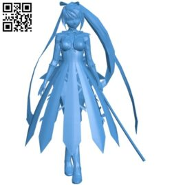 Anime fighters women B008078 file stl free download 3D Model for CNC and 3d printer