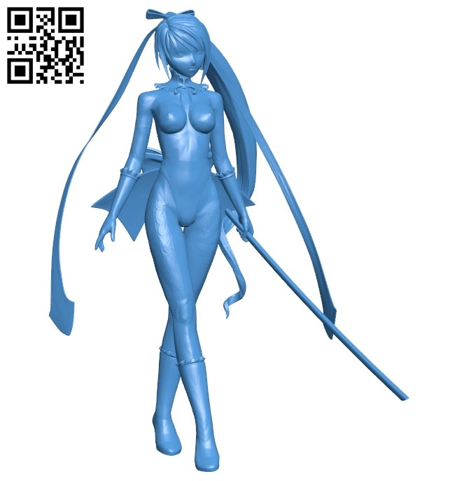 Anime fighters women B008079 file stl free download 3D Model for CNC and 3d printer