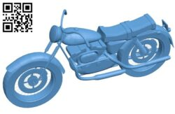 Army bike – Motorbike B008283 file stl free download 3D Model for CNC and 3d printer