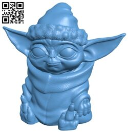 Baby X-mas Yoda B008319 file stl free download 3D Model for CNC and 3d printer