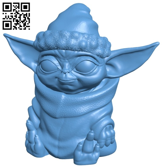 Baby X-mas Yoda B008319 file stl free download 3D Model for CNC and 3d printer