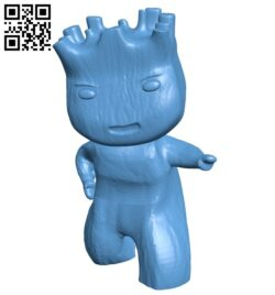 Baby groot B008162 file stl free download 3D Model for CNC and 3d printer