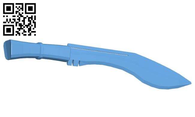 Back sword B008328 file stl free download 3D Model for CNC and 3d printer