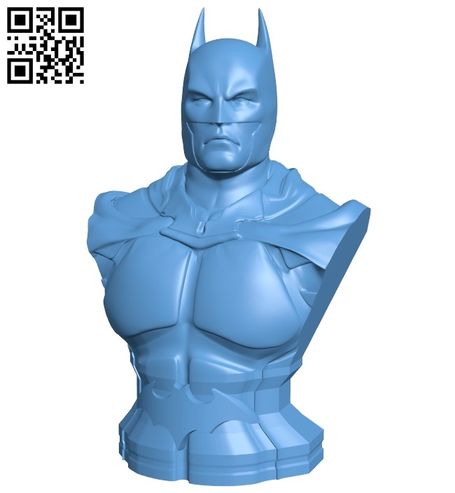 Batman bust - superhero B008186 file stl free download 3D Model for CNC and 3d printer