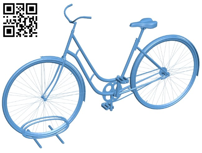 Bike on stand B008188 file stl free download 3D Model for CNC and 3d printer