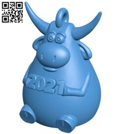 Buffalo-shaped key hanger B008052 file stl free download 3D Model for CNC and 3d printer