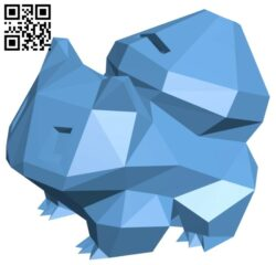 Bulbasaur bank B008239 file stl free download 3D Model for CNC and 3d printer