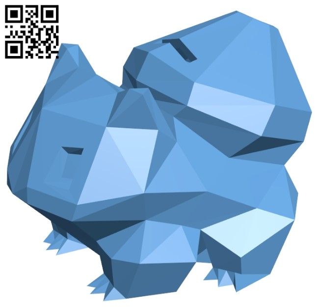 Bulbasaur bank B008239 file stl free download 3D Model for CNC and 3d printer