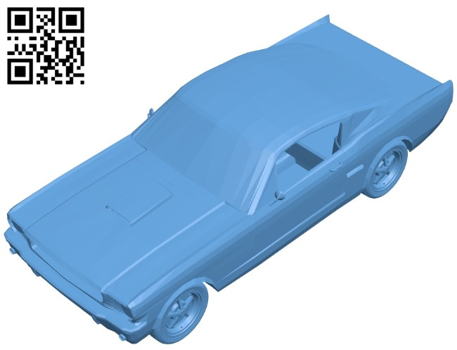 Car 1966 Shelby GT350 B008228 file stl free download 3D Model for CNC and 3d printer