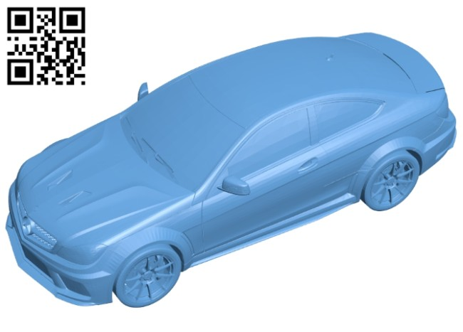 Car C63 AMG Coupe B008248 file stl free download 3D Model for CNC and 3d printer