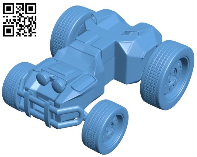 Car - Cartoon jeep B008196 file stl free download 3D Model for CNC and 3d printer