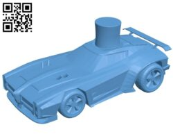 Car in hat B008195 file stl free download 3D Model for CNC and 3d printer