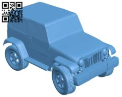 Car mini SUV B008313 file stl free download 3D Model for CNC and 3d printer