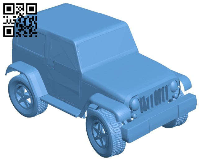Car mini SUV B008313 file stl free download 3D Model for CNC and 3d printer