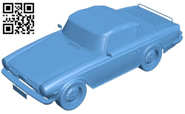 Car old roadster B008173 file stl free download 3D Model for CNC and 3d printer