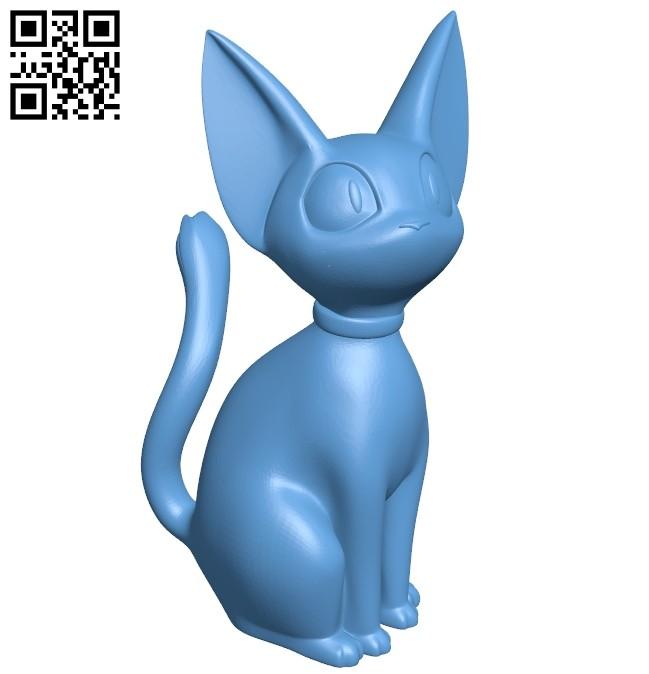 Cat Jiji B008270 file stl free download 3D Model for CNC and 3d printer