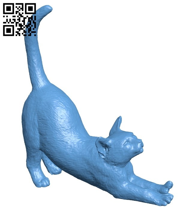 Cat stretch B008198 file stl free download 3D Model for CNC and 3d printer