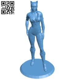 Catwoman – woman – superhero B008214 file stl free download 3D Model for CNC and 3d printer