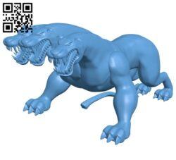Cerberus dog B008215 file stl free download 3D Model for CNC and 3d printer
